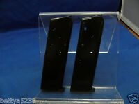 TWO 1911 MAGAZINES 45 AUTO MAG 7 ROUND FITS COLT KIMBER SPRINGFIELD BLUED STEEL