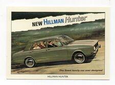 #10 Hillman Hunter rootes Car trade card