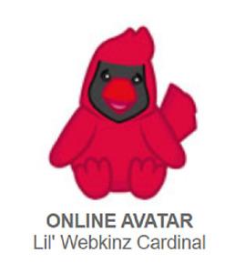 Webkinz Classic Lil Webkinz Cardinal *Code Only*