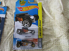 LOT OF 2 2011 AND 2014 HOT WHEELS Bone Shaker Black with Flames EIGHT BALL