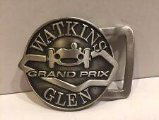 New listing vintage BELT BUCKLE --- WATKINS GLEN GRAND PRIX Formula 1 auto racing cars