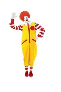 Mens Ronald The Clown Red & Yellow Fancy Dress Costume Without Shoes