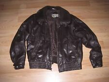 Vintage Members Only Size 46 Brown Leather Bomber/Flight/Aviator Jacket/Free SH!