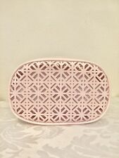 95cb698d16d TORY BURCH Cosmetic Case Patent Light Pink Makeup Pouch Toiletry Bag