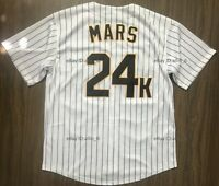 Bruno Mars 24K Hooligans Men's Baseball Jersey Stitched White