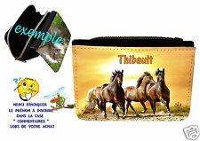 portefeuille cheval personnalisable avec prénom réf 10