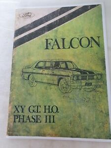 Ford Falcon XY GTHO Phase III Supplement Manual