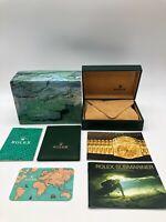 Rolex Genuine Submariner 16610 watch box case 68.00.55 Booklet Card case 0607009