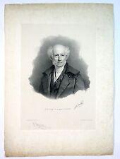 Lithographie de Grevedon, Portrait d'Isabey