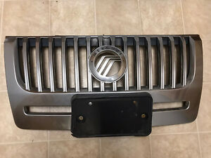 08 09 10 11 MERCURY MARINER FRONT GRILLE ASSEMBLY BUMPER GRILL SILVER 2008-2011