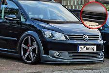 SPOILER spada FRONT SPOILER da ABS per VW Touran Cross ABE 1t3 NERO LUCIDO