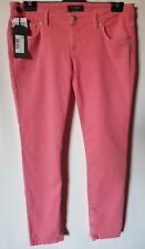 GUESS Beverly SKINNY Jeans Pink Size 32 With Ankle Zip