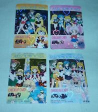 RARE Sailor Moon Check List Prism Sticker card LOT 4 pegasus uranus neptune inne