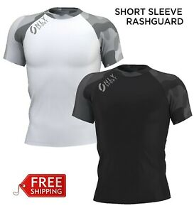 Rashguard Short Sleeve MMA Brazilian Jiujitsu Kick Boxing Martial Arts