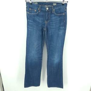 J Crew Boy Jean Boot Cut Jeans Womens 28 Button Fly 100% Cotton Style 87573