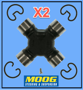 2 Driveshaft Universal Joints HD Super Strength RWD/4WD Moog Greasable