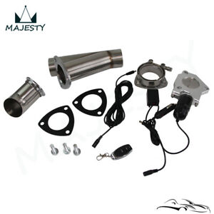 "3"" Exhaust Catback Downpipe Cutout E-Cut Valve Electric + Toggle Switch Control"