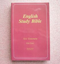 English Study Bible New Testament With Notes Harold Littrell Church of Christ