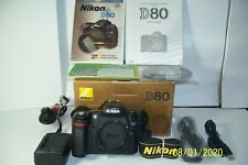 Nikon D80 Digital SLR Camera Body - With All Original Packaging  FOR  PARTS ONLY