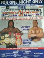 Lennox Lewis vs Frans Botha Heavyweight Championship of the World fight poster