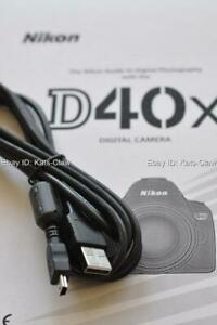 GENUINE Nikon D40 D40x USB Cable Photo Transfer Cord FERRITE