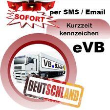 Kurzzeitversicherung 5 Tagesversicherung LKW für DE eVB Kurzzeit Kennzeichen SMS