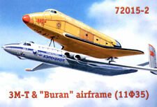 """Amodel ® 72015-5 Myasishchev 3 M-T & """"Buran"""" airframe 1:72 Spaceshuttle"""