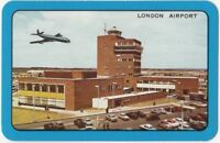Playing Cards 1 Single Swap Card Old Vintage 1960s LONDON AIRPORT Aircraft Plane