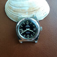 Vintage Tiara Divers/Diving Watch w/All SS Case,Faded Brown Bezel,ETA 2783 Mvmt