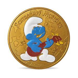 Jeton souvenir Monnaie de Paris 2021 - Schtroumpf musicien