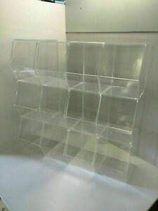 Pick and Mix / Storage Clear Display Bins 4 Sizes and Choice of 4,6,9,12 Pack