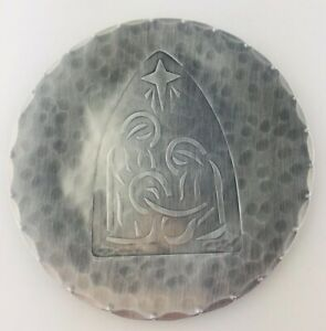 """Cornerstone Forge Aluminum Plate 6"""" With Nativity Scene Hand Wrought by Dennis"""