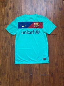 Nike FC Barcelona Soccer Jersey Women Small Blue Football Club Shirt Spain Logo