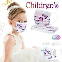 Kinder Schmetterling Motiv Maske 3-lagig Maske Mund-Nasen-Maske Gesichtsvisier