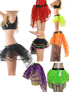 Ladies 3 Layers Burlesque Tutu Skirt Womens Hen Night Skirt Fancy Dress Costume
