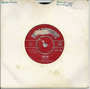 """Adam Faith - Poor Me 7"""" Vinyl Single 1960"""