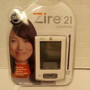 New - Palm Zire 21 Handheld Pilot PDA 8MB White