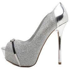 Prom Bridal Wedding Open Peep Toe Stiletto High Heels Platform Pumps Size H175