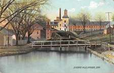 Danielson Connecticut Quinebaug Mills Scenic View Antique Postcard J52246
