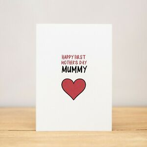 Greeting Card - Mother's Day, Funny, Happy first Mother's Day Mummy V2