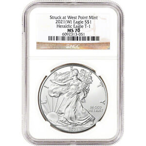 2021 (W) American Silver Eagle - NGC MS70