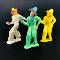 TRUE Vintage Bergen Toy Soldiers Plastic Painted Cowboys Mechanic Mixed Lot USA