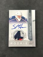 2012-13 UPPER DECK THE CUP SHAWN HUNWICK ROOKIE AUTO PATCH SILVER #ed 197/249