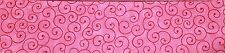 "BINDING STRIPS - PINK Curly Whirl Mini Jelly Roll Strips - 20 x 2.5"" x WOF"
