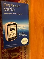 One Touch Verio BLOOD GLUCOSE MONITORING SYSTEM Glucometer Color-Coded Range Ind
