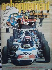 revue ECHAPPEMENT 1973 PROTO WM / GORDINI CIRCUS + COUPE / ACE LE MANS / N°55