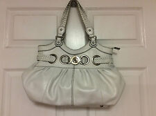 Hype ladies handbag hobo satchel tote large white leather H25
