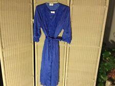 Vintage Shadowline Blue Peignoir Satin Sheer Lace Gown Robe Set Olga Medium USA