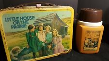Little House On The Prairie Metal Lunch Box w/Thermos 1978 70's 80's tv series