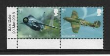 2018 GB.- RAF CENTENARY - CORNER PAIR WITH INSCRIPTIONS - MINT AND NEVER HINGED.